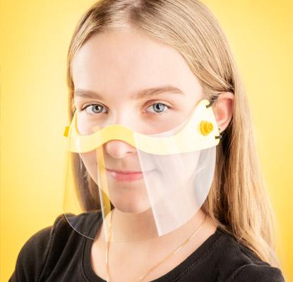 mini visière transparente personnalisable