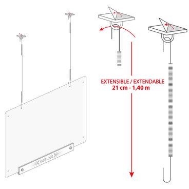Écran de protection suspendu de 680 x 980 mm