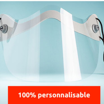 Mini-visiere de protection translucide personnalisable