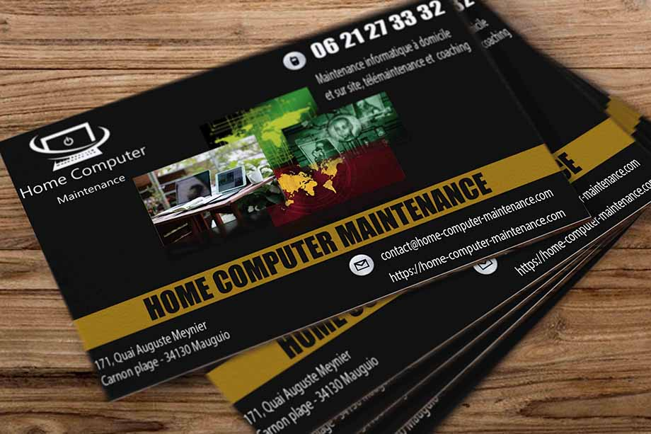 carte de visite home maintenance carnon
