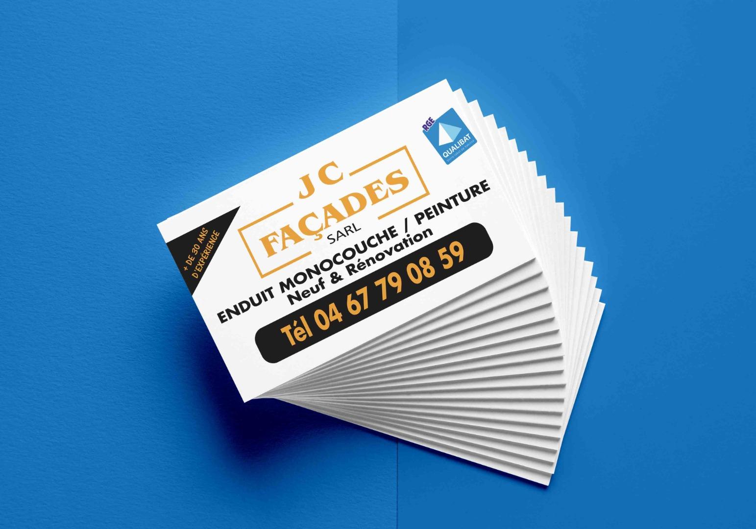 cartes de visite JC facade