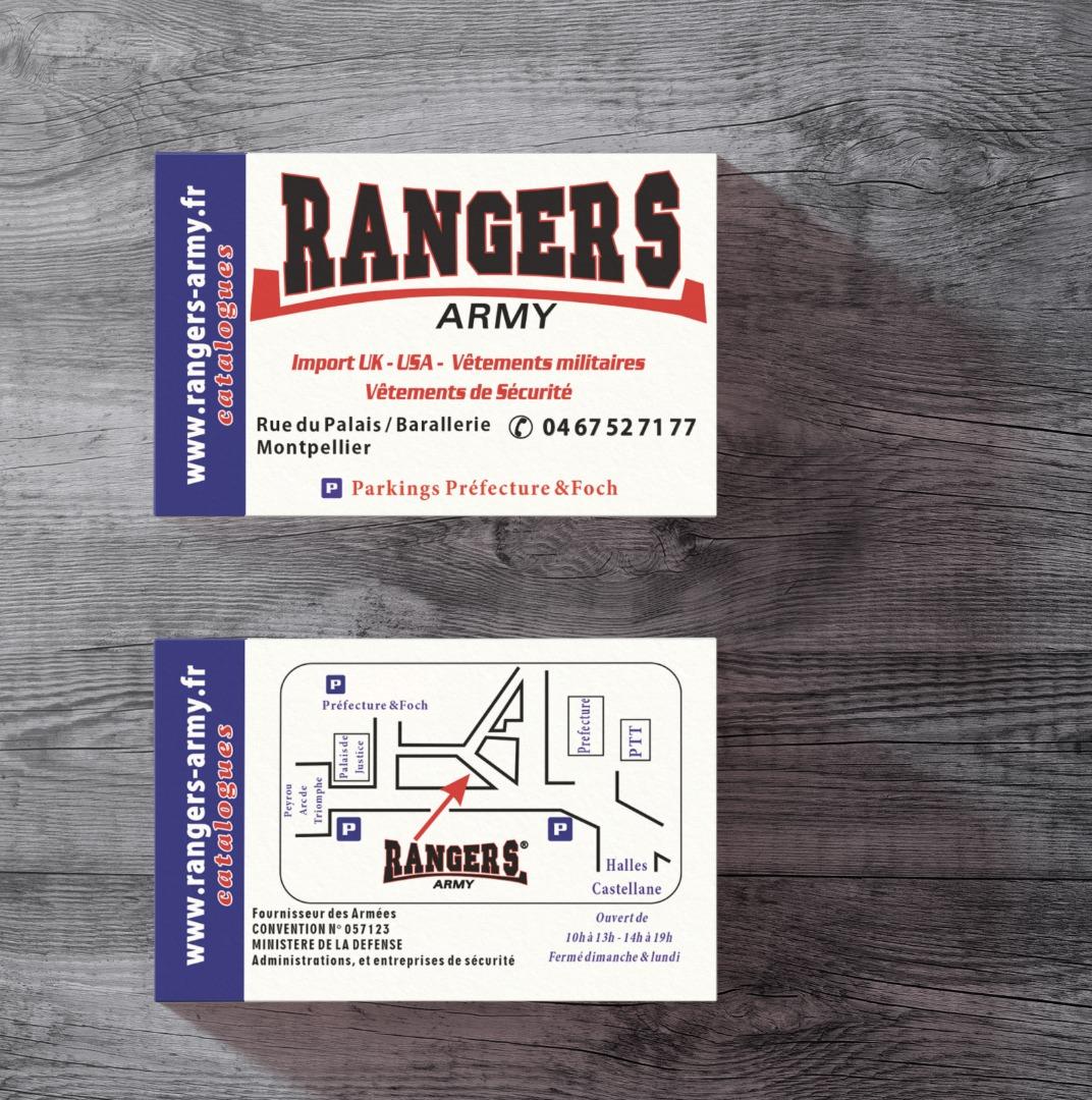 carte de visite Rangers Army Montpellier