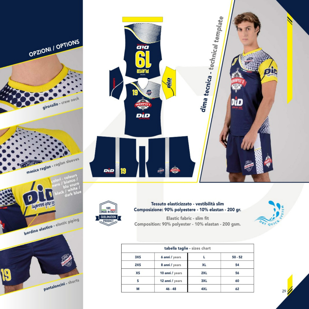 Tenue de volley sublimées