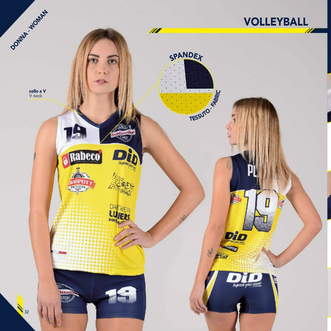 Tenue de volley femme MC sublimée