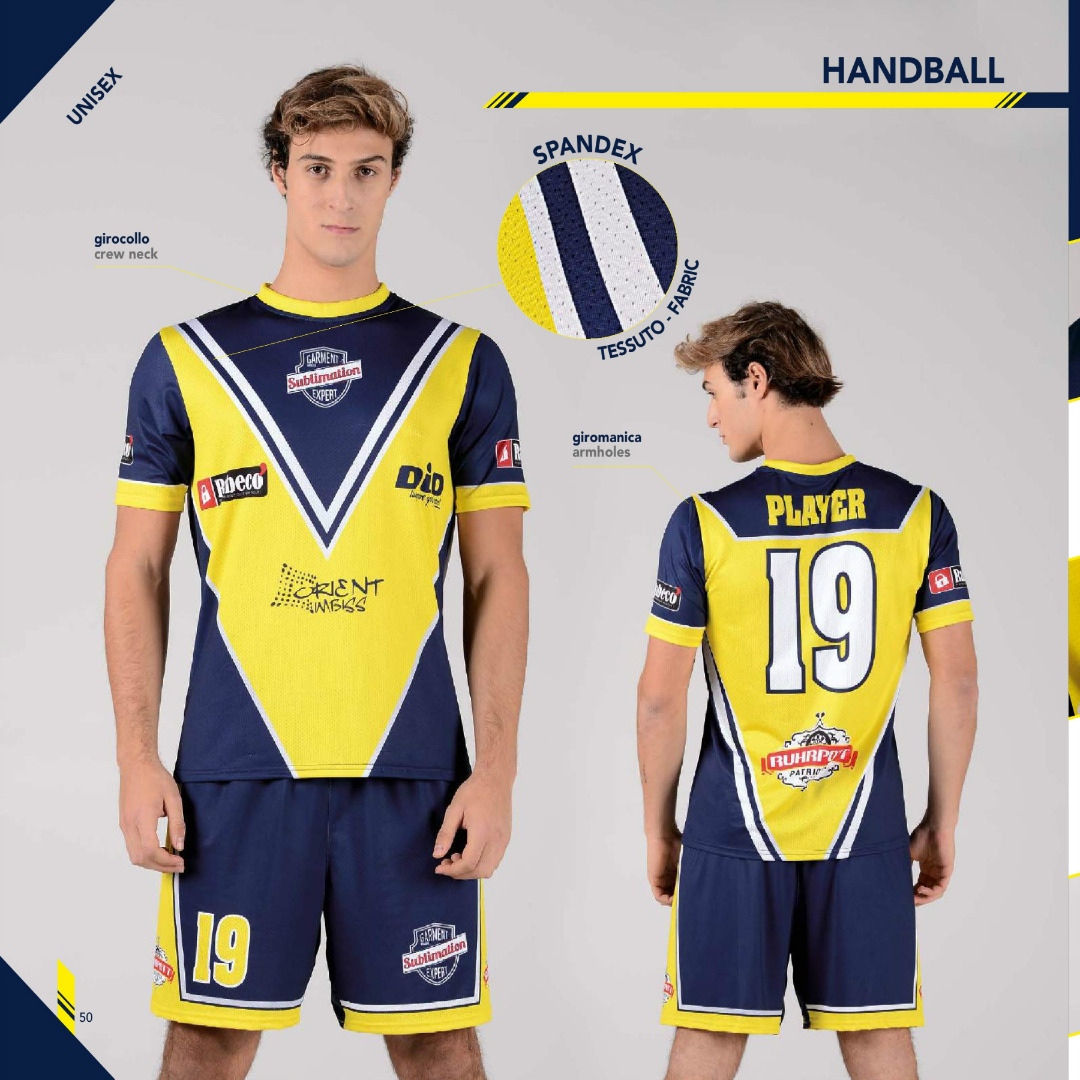 Tenue de handball sublimée