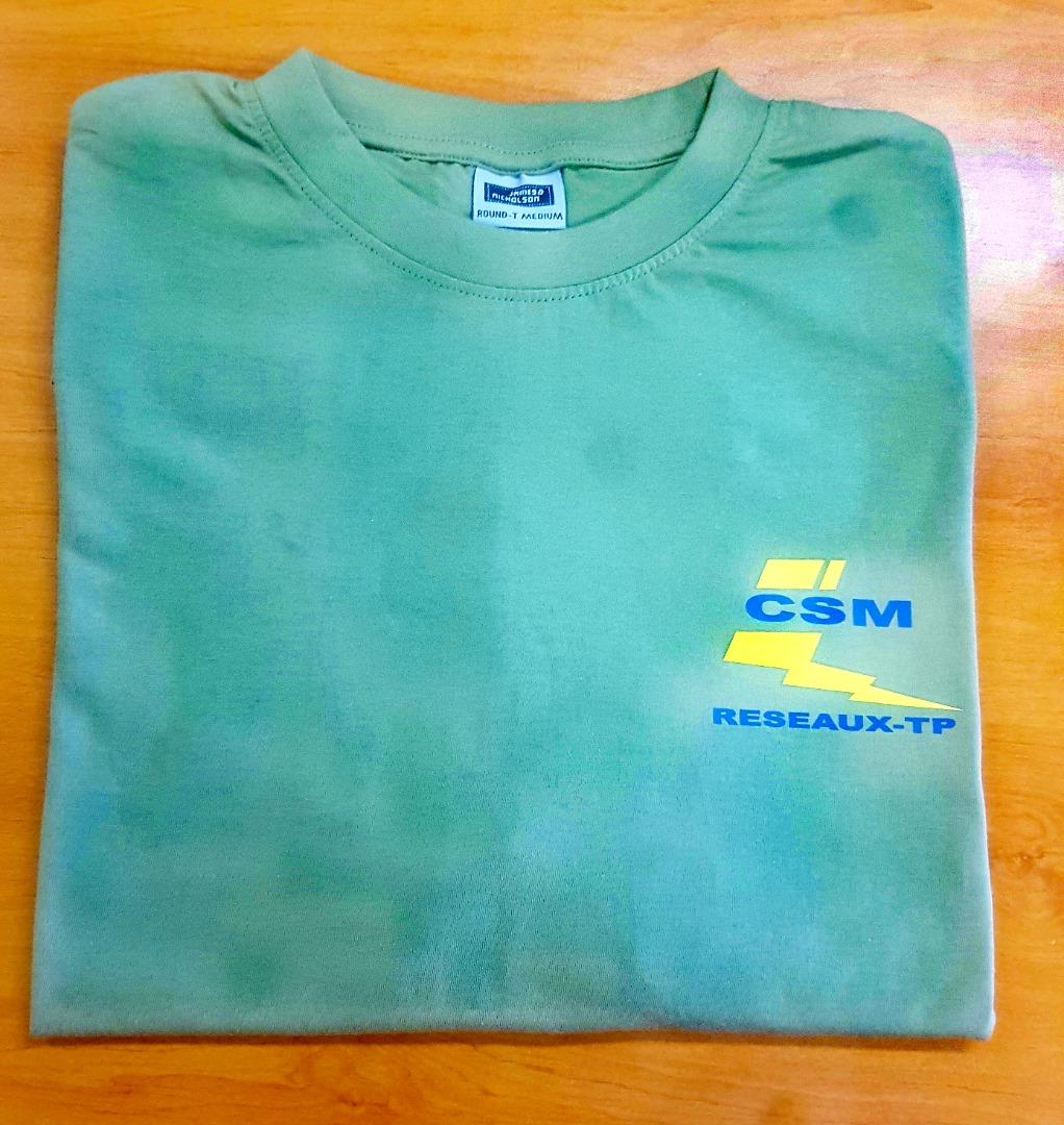 Tee shirt 2 couleur CSM reseau juvignac