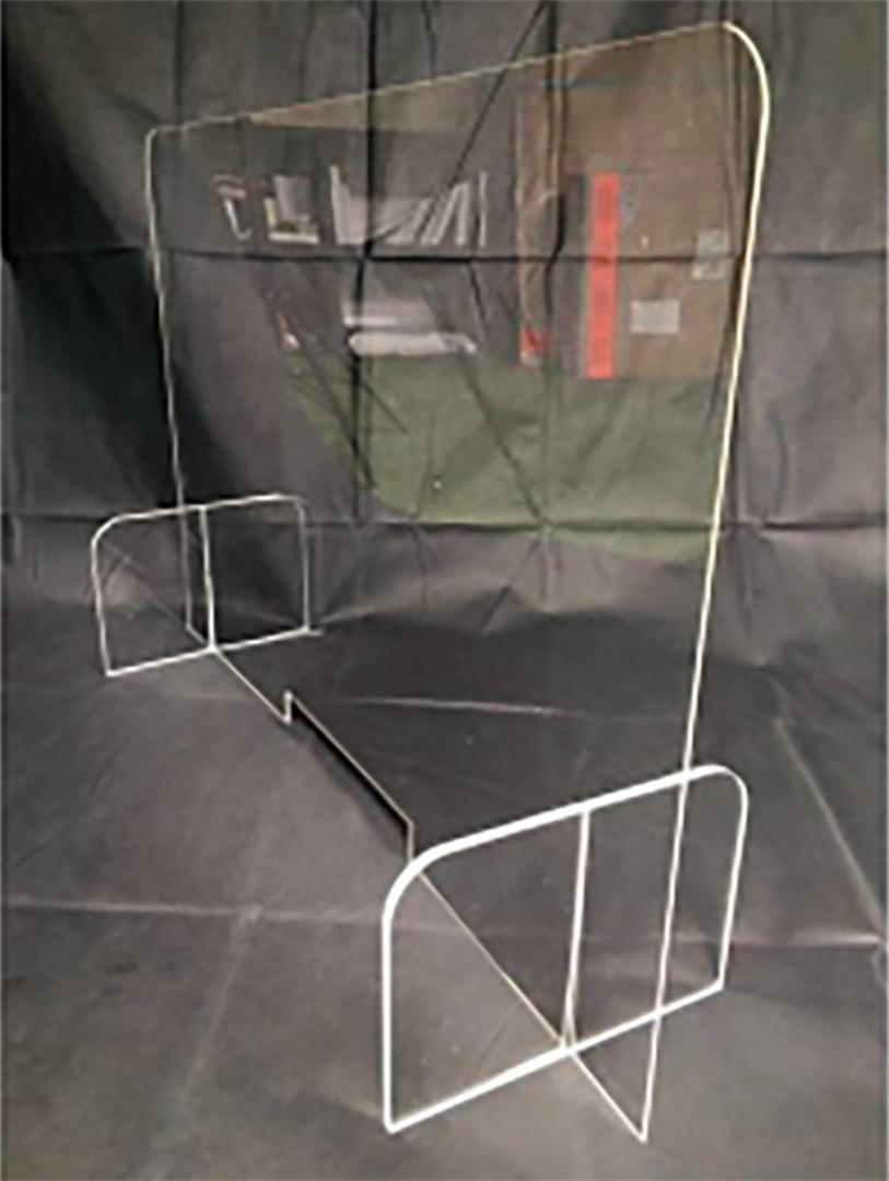 Protection bureau plexiglass hygiaphone